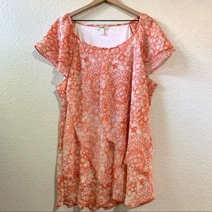 Dressbarn Coral Top, Size 3X
